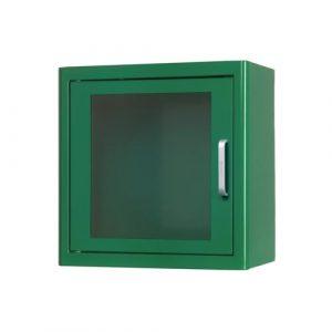 Skåp-hjärtstartare-inomhus-grön-defibrillator
